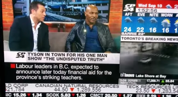 Mike Tyson Gets Upset at Reporter